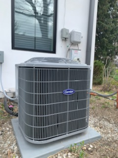 new Carrier Air Conditioner installation